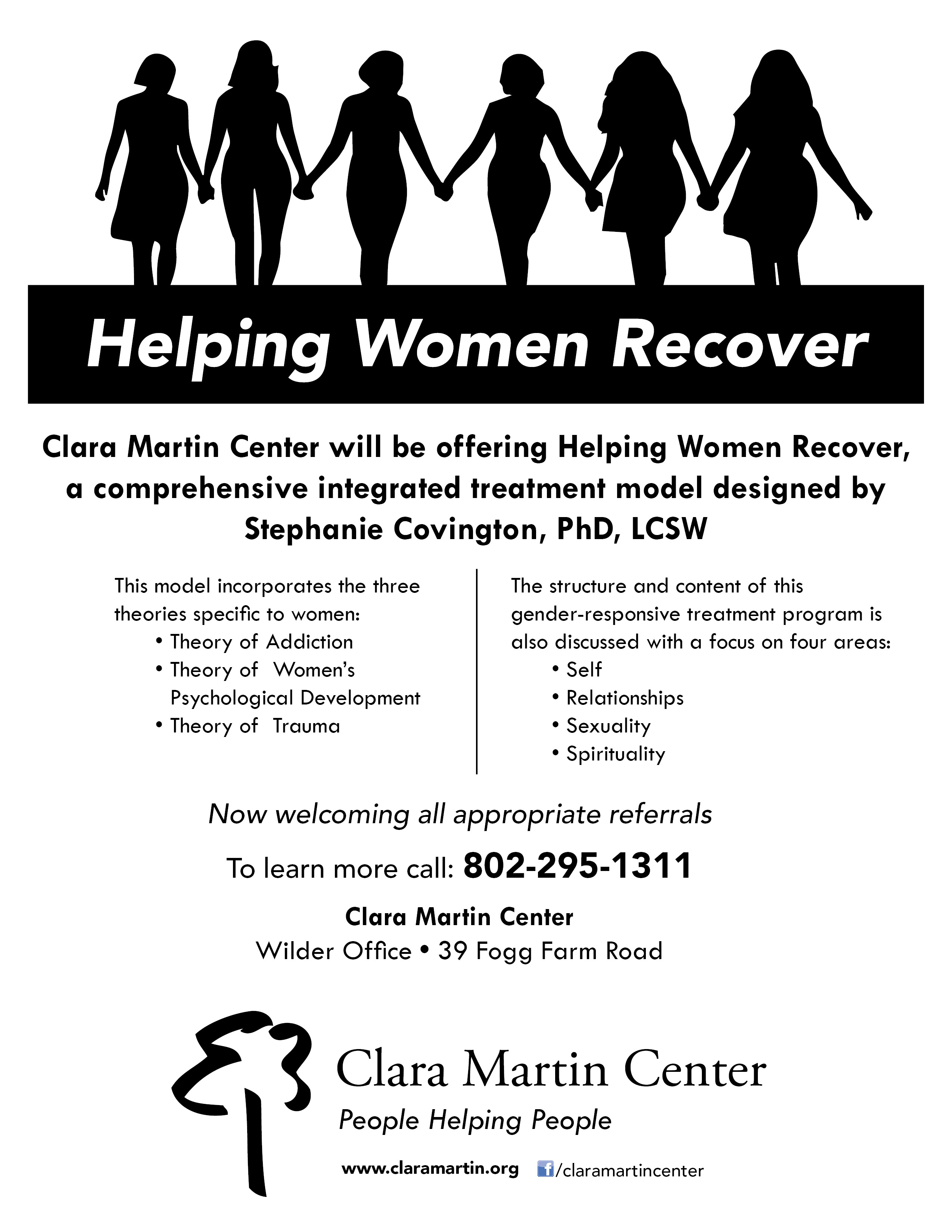 Helping Women Recover flyer